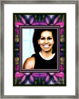 First Lady Michele Framed Print by Wbk