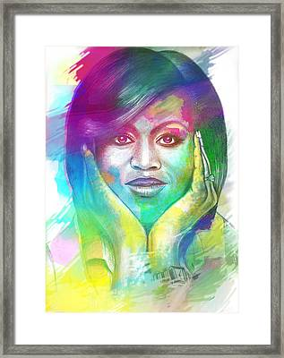 First Lady Obama Framed Print by AC Williams