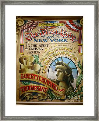 First Lady Of New York Framed Print by Frederick Holiday