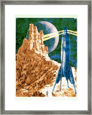 First Landing On Triton Framed Print