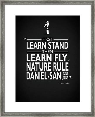First Learn Stand Framed Print