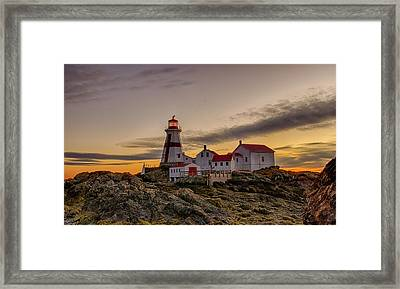 First Light At Head Harbor Lighthouse Framed Print by Lee Kappel