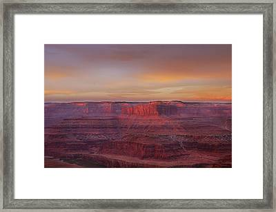 Framed Print featuring the photograph First Light At Horseshoe Bend by Marie Leslie
