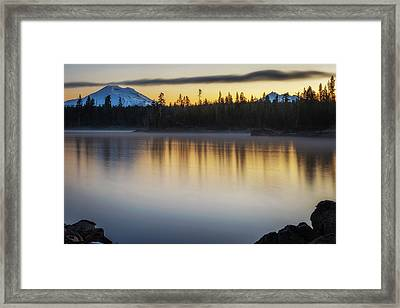 Framed Print featuring the photograph First Light At Lava Lake by Cat Connor