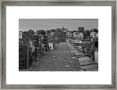 First Light At Motif Number One Bw Framed Print by Susan Candelario