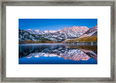First Light Over North Lake - Fall Colors Photograph Framed Print by Duane Miller