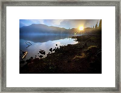 Framed Print featuring the photograph Daybreak by Cat Connor