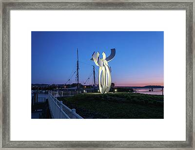 First Light At The Waterfront Framed Print