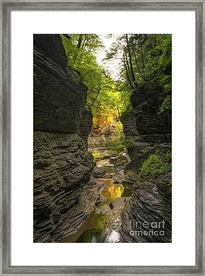 First Light At Watkins Glen  Framed Print by Michael Ver Sprill