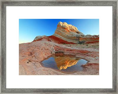 First Light At White Pocket. Framed Print
