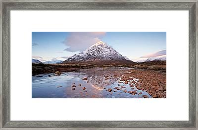 First Light In Glencoe Framed Print
