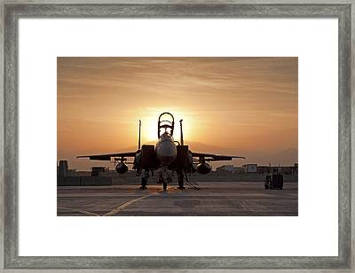 First Light On A Fighter Framed Print by Tim Grams