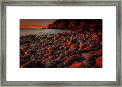 First Light On A Maine Coast Framed Print
