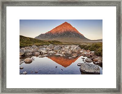 First Light On Buachaille Etive Mor Framed Print by Colin and Linda McKie