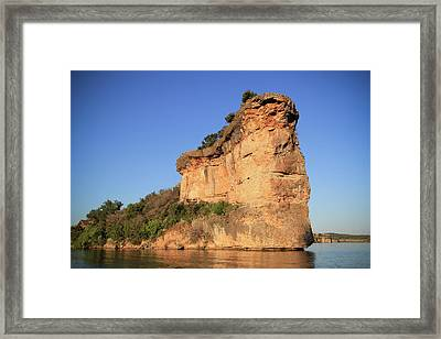 Morning Sun On Hell's Gate  Framed Print