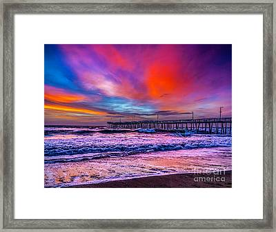 Framed Print featuring the photograph First Light On The Beach by Nick Zelinsky