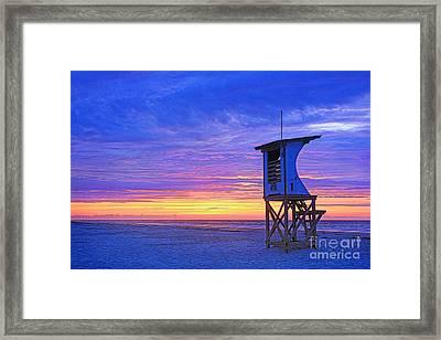 First Light On The Beach Framed Print