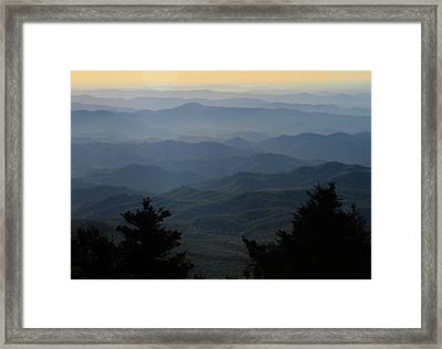 First Light On The Blue Ridge Parkway Framed Print by Dan Sproul