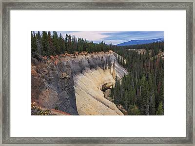 First Light On The Pinnacles Framed Print