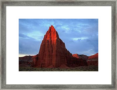 Framed Print featuring the photograph First Light On The Temple Of The Sun. by Johnny Adolphson