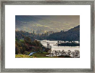 First Light Over Rydal Water In The Lake District Framed Print