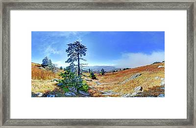 Framed Print featuring the photograph First Light Snow by George Randy Bass