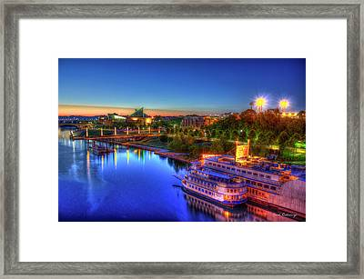 First Light Sunrise Chattanooga Tennessee Framed Print by Reid Callaway