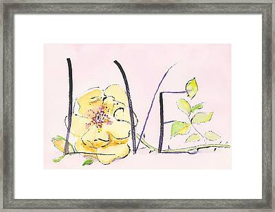 First Love 18 - Sentimental Reasons Framed Print by Faith Teel