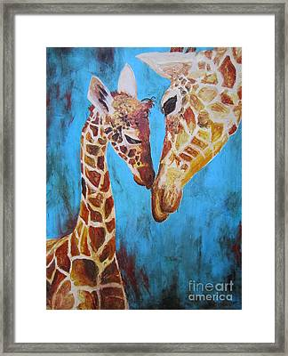 Framed Print featuring the painting First Love by Ashley Price