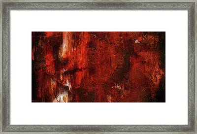First Love - Brown Contemporary Abstract Art Painting Framed Print by Modern Art Prints