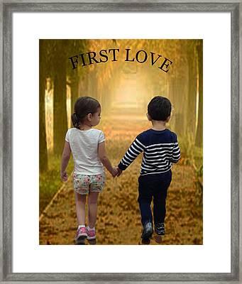 First Love Framed Print by Quwatha Valentine