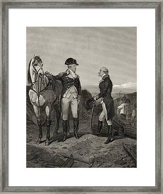 First Meeting Of George Washington 1732 Framed Print