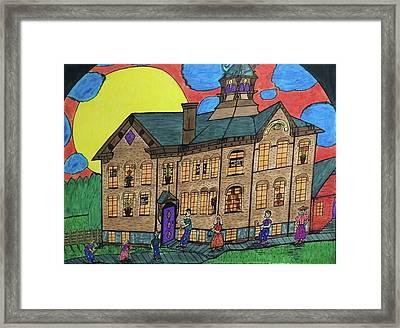 First Menominee High School. Framed Print