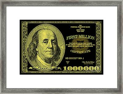 First Million Certificate Framed Print