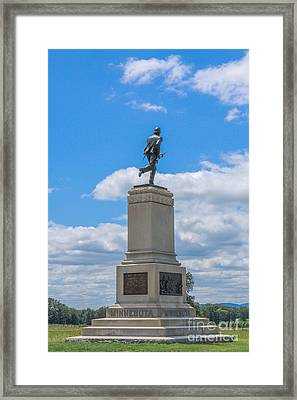 First Minnesota Monument On Gettysburg Battlefield Framed Print by Randy Steele