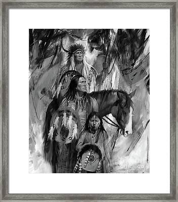 First Nation 78j Framed Print