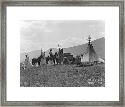 First Nations Camp, C.1930s Framed Print by H. Armstrong Roberts/ClassicStock