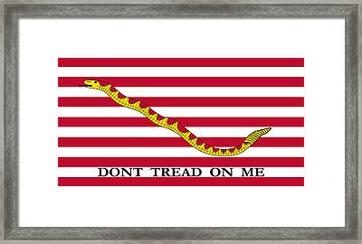 First Navy Jack Framed Print
