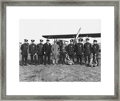 First Ny Air Traffic Squad Framed Print by Underwood Archives