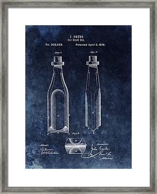 First Oil Drill Bit Patent Framed Print