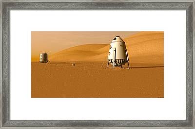 Framed Print featuring the digital art First Outpost by David Robinson