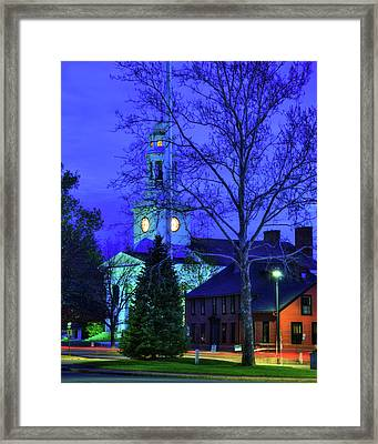 First Parish Church - Concord Ma Framed Print by Joann Vitali