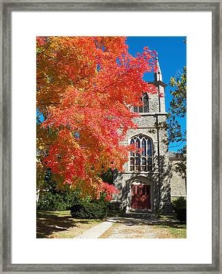 First Parish Unitarian Church Framed Print