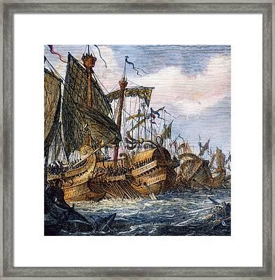 First Punic War Battle Framed Print by Granger
