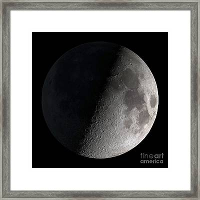 First Quarter Moon Framed Print by Stocktrek Images
