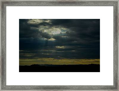 First Rays Of The Day Framed Print by Nadalyn Larsen