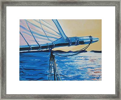 First Reef Framed Print by Fiona Dinali