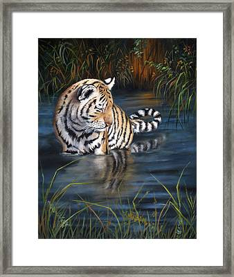 Framed Print featuring the painting First Reflection by Mary McCullah