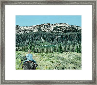 First Ride Framed Print