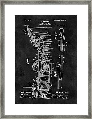 First Roller Coaster Patent Framed Print by Dan Sproul